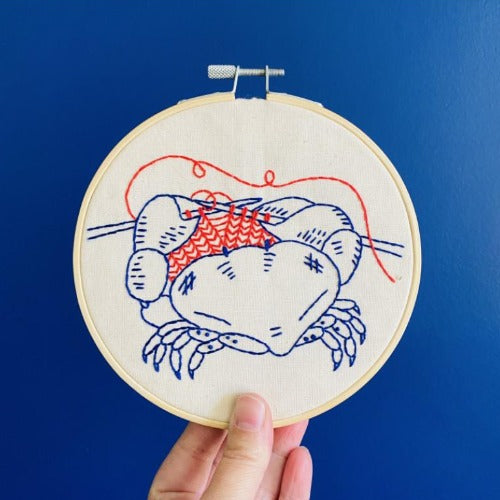 Hook Line + Tinker - Oh Snap Embroidery Kit