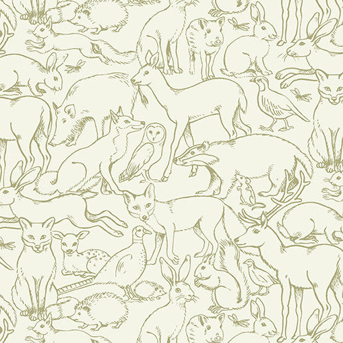 Sherwood Collection - Outline Animal Green