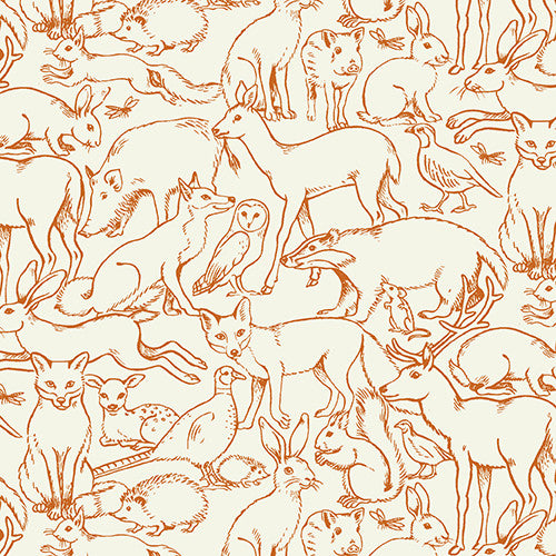 Sherwood Collection - Outline Animal Orange