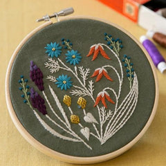 Piece - Wildflower Embroidery Kit Kahki (PHC-082-1)