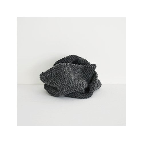 Check & Stripe Pocopoco Wool Knit Snood