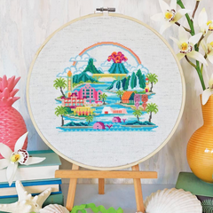 Satsuma Street Cross Stitch Kit - Pretty Little Hawaii