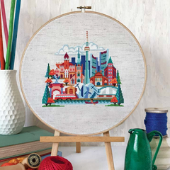Satsuma Street Cross Stitch Kit - Pretty Little Toronto