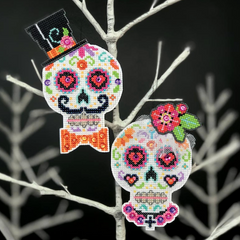 Satsuma Street Cross Stitch Kit - Til' Death Ornament Set