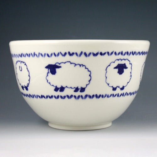 Yarn Bowl - Blue Sheep