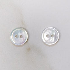 White Mother of Pearl Buttons 11.5 mm (No. 1702)