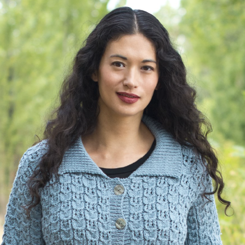 Cable & Lace Cardigan Pattern by Cascade