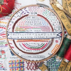 Dropcloth Samplers - Drawing Stitches Sampler
