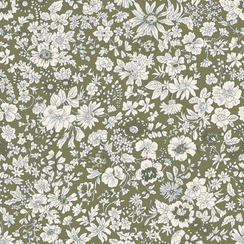 Liberty of London - The English Garden - Emily Silhouette Olive (04775604T)