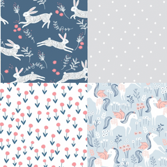 Frolic Half Yard Bundle / 4 pcs