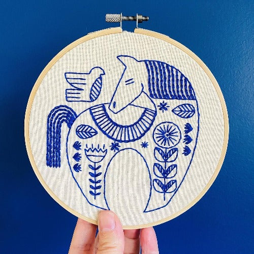 Hook Line + Tinker - Holiday Hygge Horse Embroidery Kit