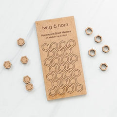 Twig & Horn - Honeycomb Stitch Markers Medium