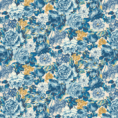 The Emporium Collection - Wild Bloom in Blue