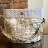 Bucket Bag / Newsprint