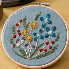 Piece - Wildflower Embroidery Kit Light blue (PHC-082-2)