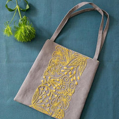 Piece - Birds and Flowers Small Bag Kit Gray & Yellow (PHC-083-2)