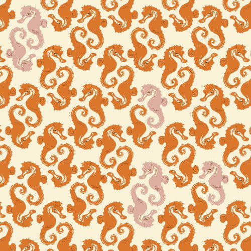 Mendocino - Sea Horses - Cream/Orange (40941 15)
