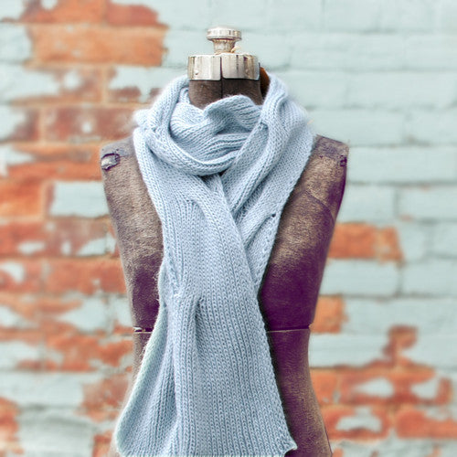 Knit your first Cable Scarf (with materials!)