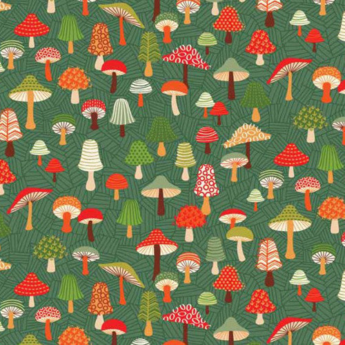 Forest Friends by Henley Studio / Toadstools Green (TP1521)