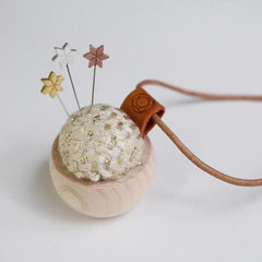Cohana Tweed Pincushion Necklace and Marking Pins with Star