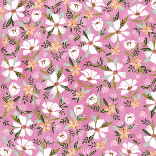 Blush & Blooms - White Floral Raspberry (41647 3)