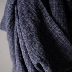Merchant & Mills Wobble Blue Check EU Linen