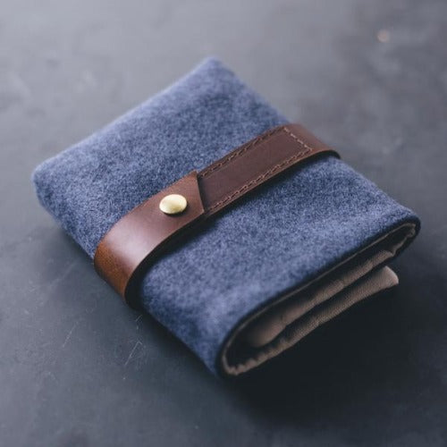 Twig & Horn - Standard Wool Interchangeable Needle Case Blue