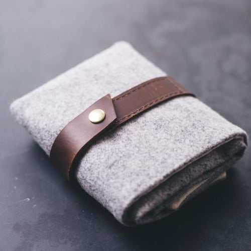 Twig & Horn - Standard Wool Interchangeable Needle Case Gray