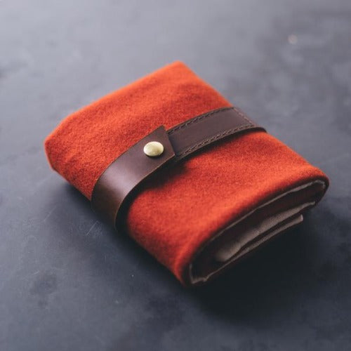 Twig & Horn - Standard Wool Interchangeable Needle Case Orange
