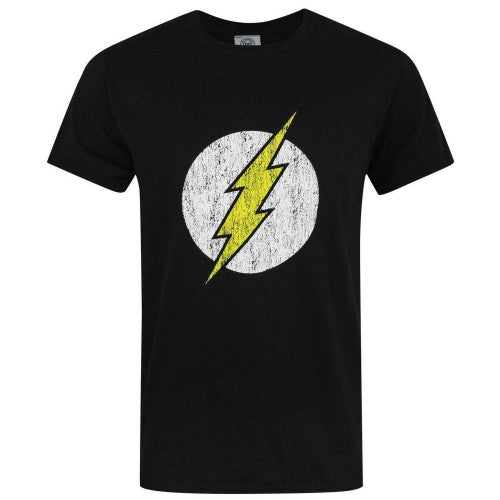 Front - DC Comics Mens Flash Distressed Logo T-Shirt
