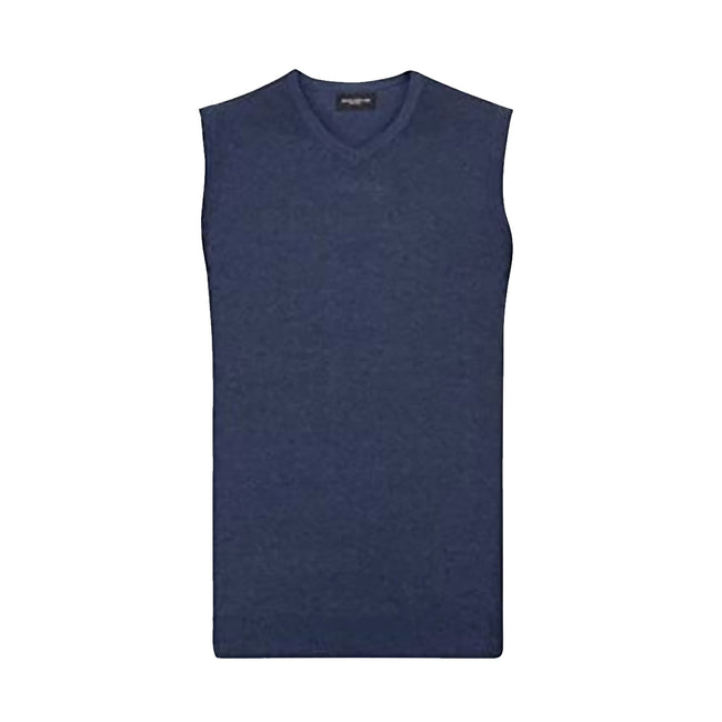Noir - Back - Russell Collection - Pull sans manches - Homme