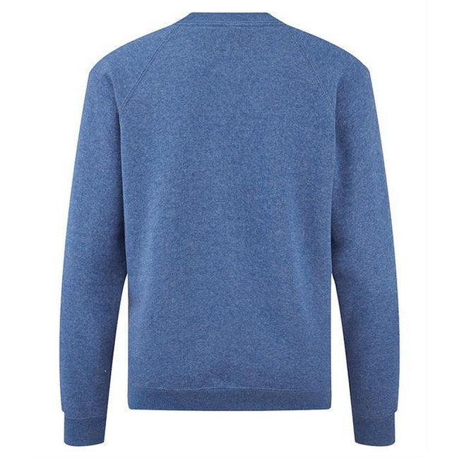 Bleu roi chiné - Side - Fruit Of The Loom - Sweat - Unisexe