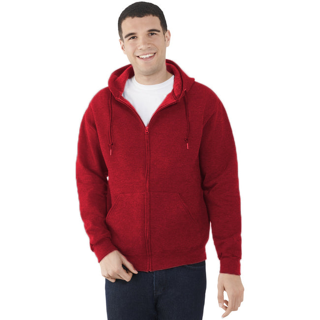 Rouge - Back - Fruit Of The Loom - Sweatshirt léger à capuche - Homme