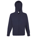 Bleu marine profond - Side - Fruit Of The Loom - Sweatshirt léger à capuche - Homme