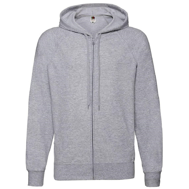 Gris - Front - Fruit Of The Loom - Sweatshirt léger à capuche - Homme