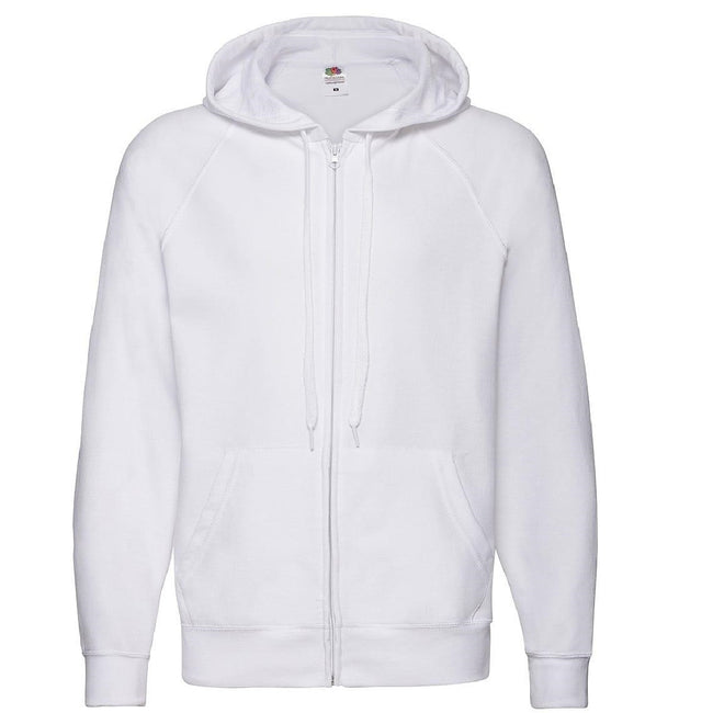 Blanc - Front - Fruit Of The Loom - Sweatshirt léger à capuche - Homme