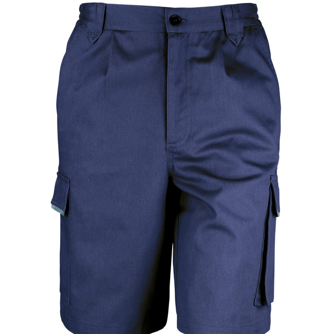 Bleu marine - Front - Result Work-Guard - Short de travail - Homme