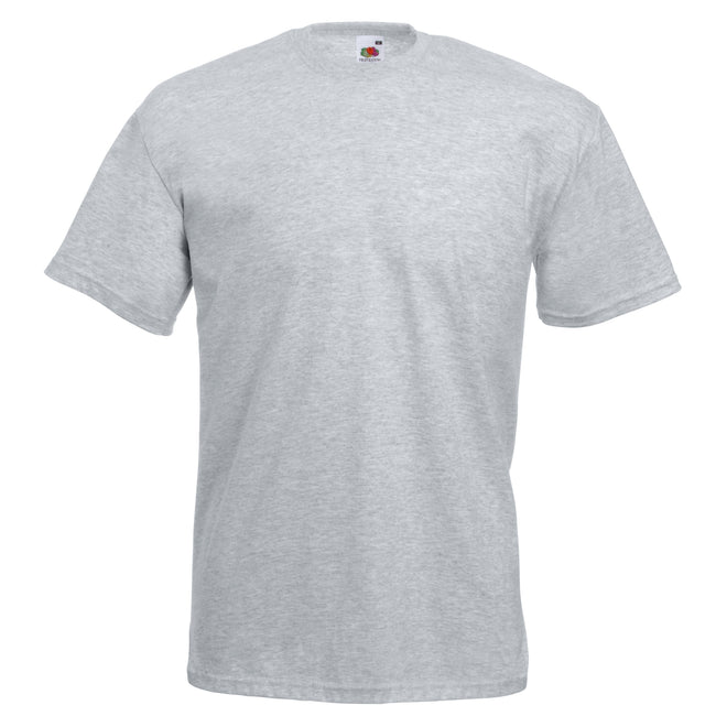 Gris chiné - Front - Fruit Of The Loom - T-shirt manches courtes - Homme