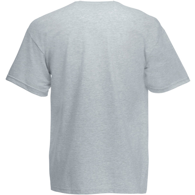 Gris chiné - Back - Fruit Of The Loom - T-shirt manches courtes - Homme