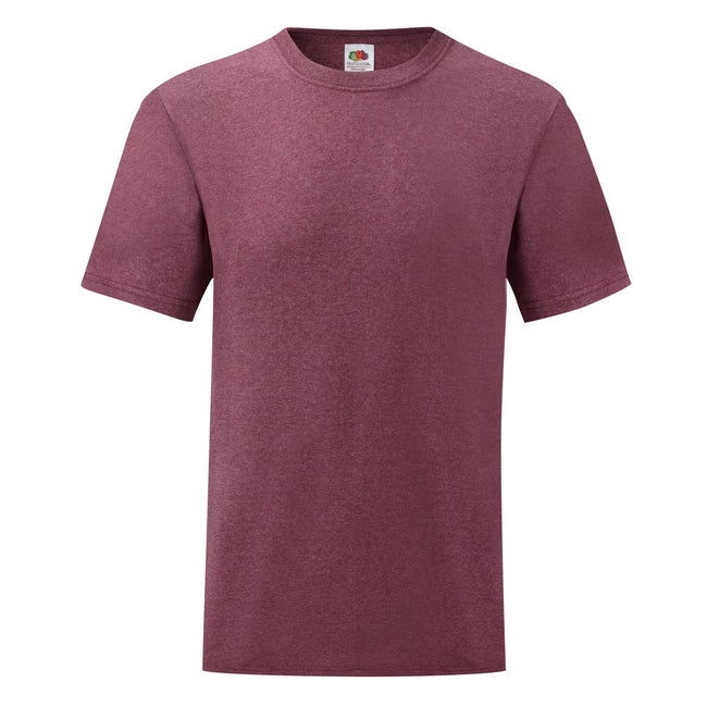 Violet chiné - Front - Fruit Of The Loom - T-shirt manches courtes - Homme