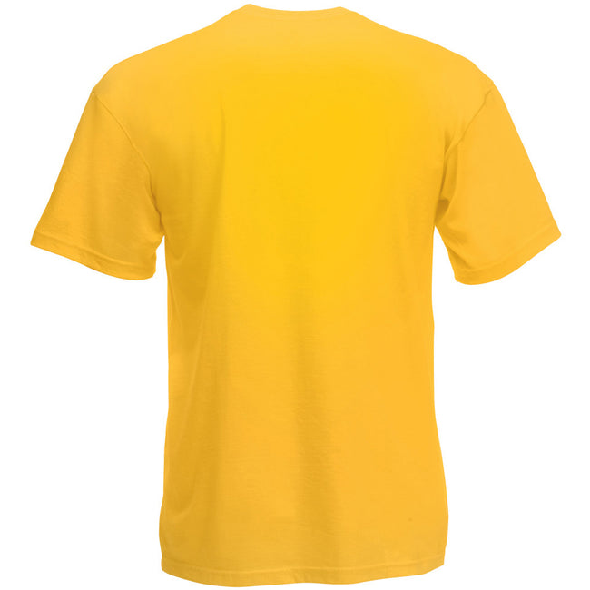 Jaune - Back - Fruit Of The Loom - T-shirt manches courtes - Homme