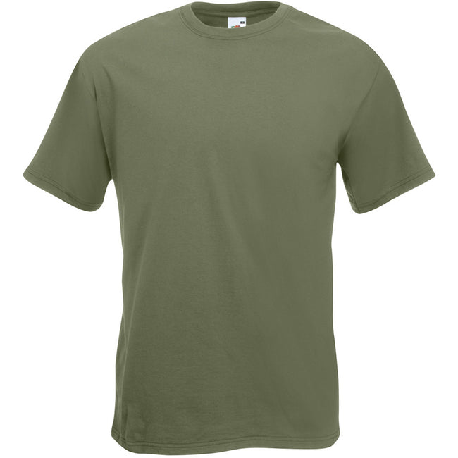 Olive - Front - T-shirt à manches courtes Fruit Of The Loom pour homme