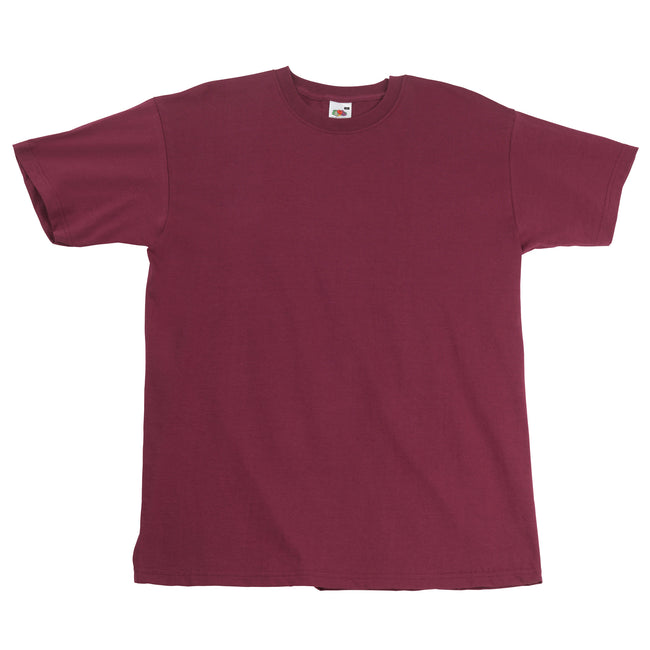 Bordeaux - Front - T-shirt à manches courtes Fruit Of The Loom pour homme