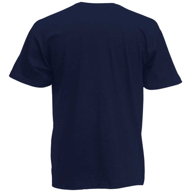 Bleu marine profond - Back - Fruit Of The Loom -T-shirt à manches courtes - Homme