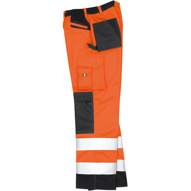 Orange haute visibilité - Close up - Result Safeguard - Pantalon cargo haute visibilité - Adulte unisexe