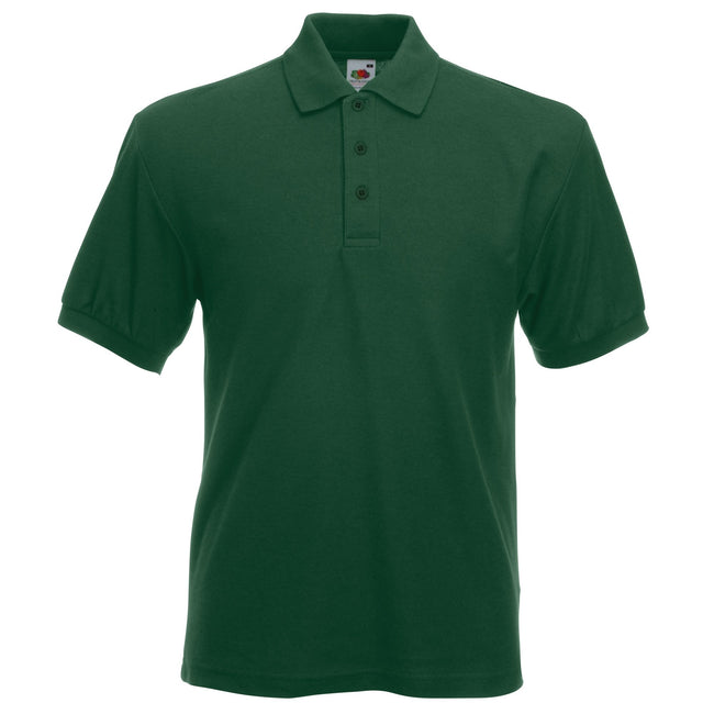 Vert bouteille - Front - Fruit Of The Loom 65-35 - Polo à manches courtes - Homme