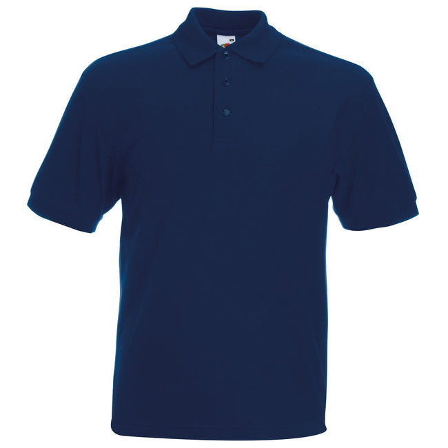 Bleu marine - Front - Fruit Of The Loom 65-35 - Polo à manches courtes - Homme