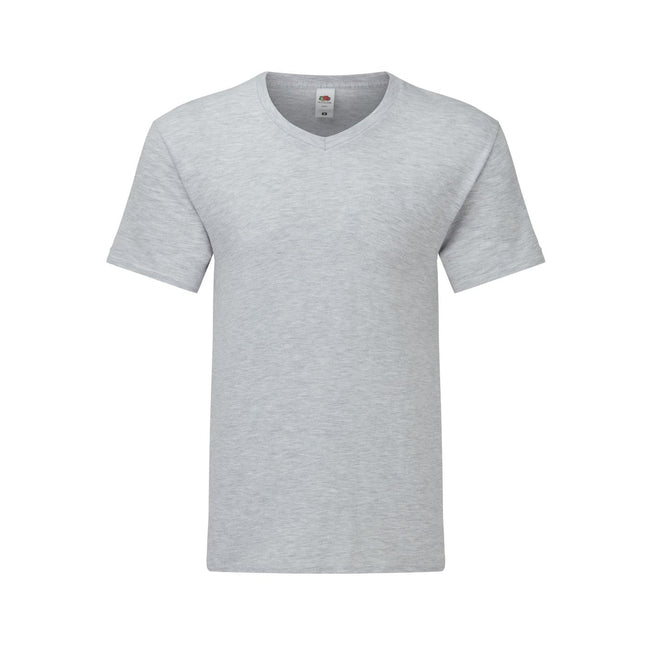 Gris chiné - Front - Fruit Of The Loom - T-shirt manches courtes ICONIC - Homme