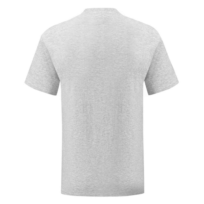 Gris chiné - Back - Fruit Of The Loom - T-shirt manches courtes ICONIC - Homme
