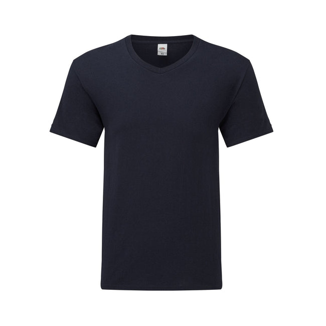 Bleu marine - Front - Fruit Of The Loom - T-shirt manches courtes ICONIC - Homme